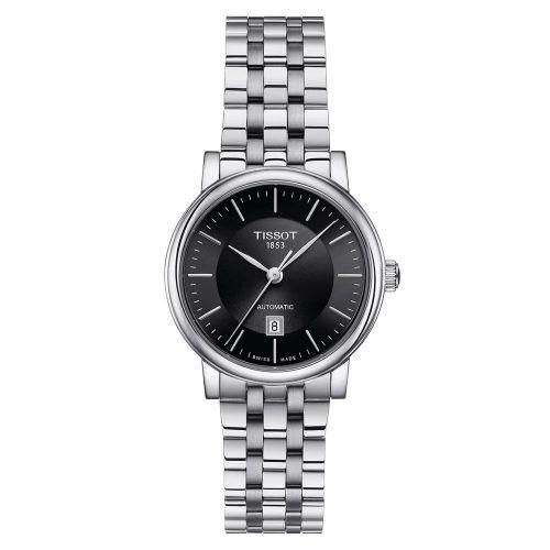 Tissot Carson Premium Automatic Lady Damenuhr Silber mit schwarzem Zifferblatt T122.207.11.051.00