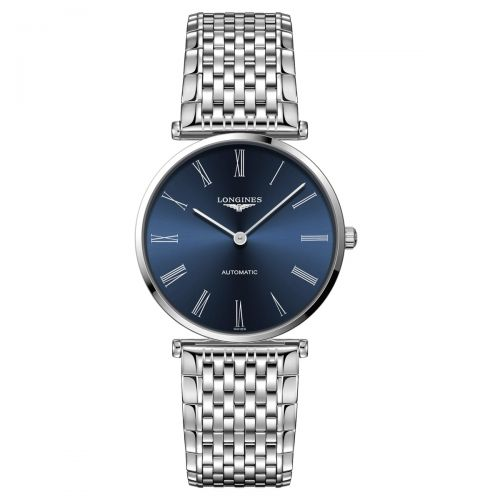 Longines La Grande Classique Automatic Herrenuhr Blau Edelstahl-Armband 36mm L4.908.4.94.6