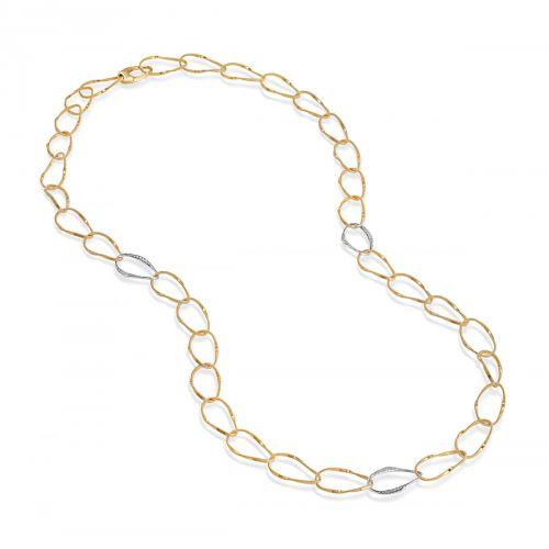 Marco Bicego Marrakech Onde Halskette Gold mit Diamanten 93 cm CG804 B YW