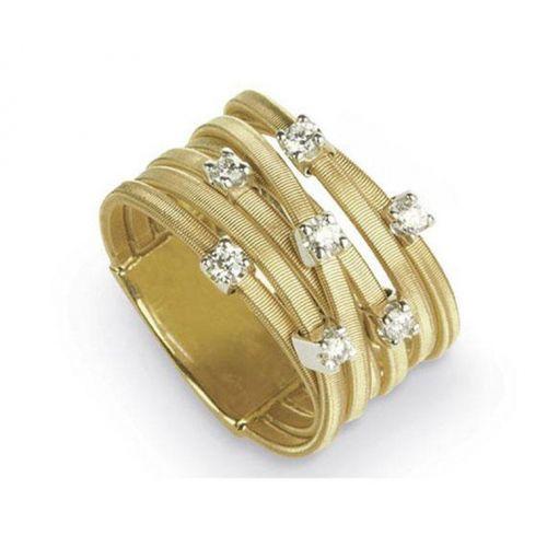 Marco Bicego Ring Goa Gold mit Diamanten 18 Karat 7 Stränge AG277 B YW