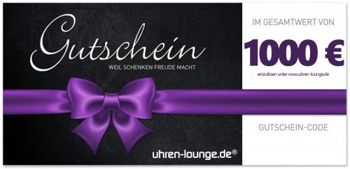 Geschenkgutschein 1000 € für Uhren & Schmuck Geschenke | Uhren-Lounge