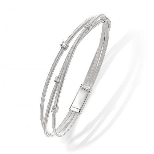 Marco Bicego Goa Armband Weißgold & Diamanten 3 Stränge BG617 B W