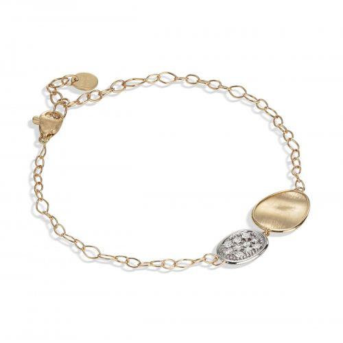 Marco Bicego Lunaria Armband mit Diamanten Pavé Gold 18 Karat BB1965 B YW