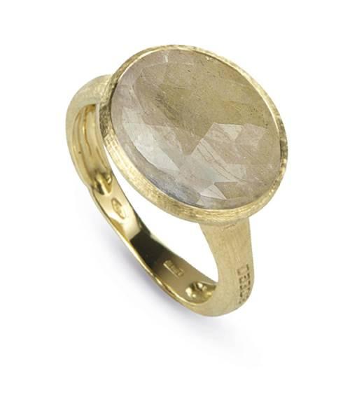 Marco Bicego Damenring Gold 18 kt. mit Saphir beige Siviglia Ring AB490-ZBE01 | Uhren-Lounge
