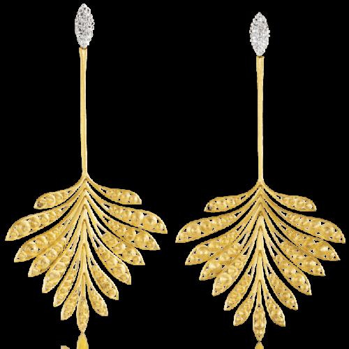 Luisa Rosas Luz Ohrringe Gold mit Diamanten L LRLZ187