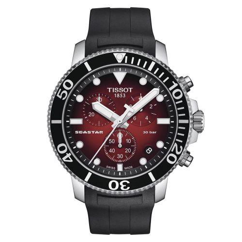 Tissot Seastar 1000 Chronograph Rot Schwarz Kautschuk-Armband Quarz 45mm T120.417.17.421.00 | Uhren-Lounge