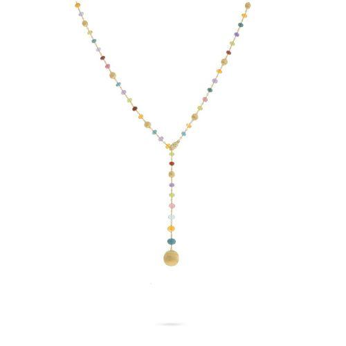 Marco Bicego Damen Halskette AFRICA 46cm aus 750er Gelbgold mit Edelstein CB2344-B MIX02
