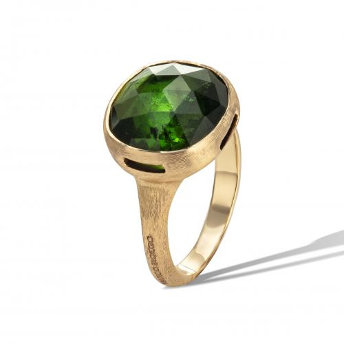 Marco Bicego Jaipur Color Ring mit grünem Turmalin Edelstein Gold 18 Karat AB617 TV01 Y