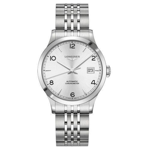 Longines Record Herrenuhr 38mm Silber Edelstahl-Armband Automatic L2.820.4.76.6