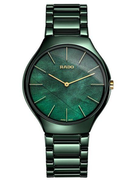 Rado True Thinline Green Leaf Grün 43mm Keramik Quarz Herrenuhr R27006912 | Sale | Uhren-Lounge