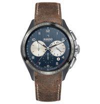 Rado HyperChrome Tennis Limited Edition Automatic Chronograph Keramik Grau Blau 45mm Leder-Armband R32022105 | Uhren-Lounge