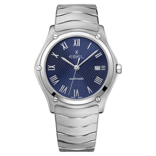 Ebel Sport Classic Gent Automatik Uhr Herren blaues Zifferblatt Edelstahl-Armband 1216456A | Uhren-Lounge