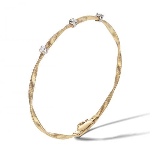 Marco Bicego Marrakech Armreif mit Diamanten Gold 18 Karat Armband BG337 B YW