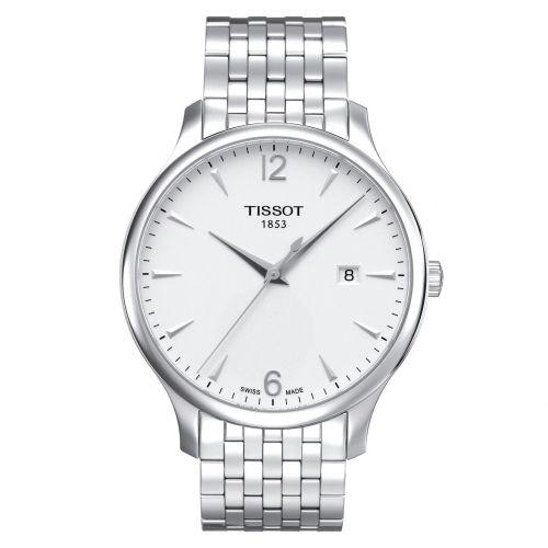 Tissot Tradition Herrenuhr 42mm Silber Weiß Edelstahl-Armband Quarz T063.610.11.037.00 | Uhren-Lounge