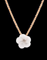 Meissen Porzellan Anhänger Blüte mit Diamanten & Halskette in Rosegold MPJ20BL124C0