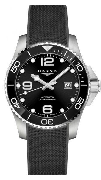 Longines Taucheruhr Automatik 43mm Schwarz Kautschuk-Armband HydroConquest L3.782.4.56.9 | Uhren-Lounge
