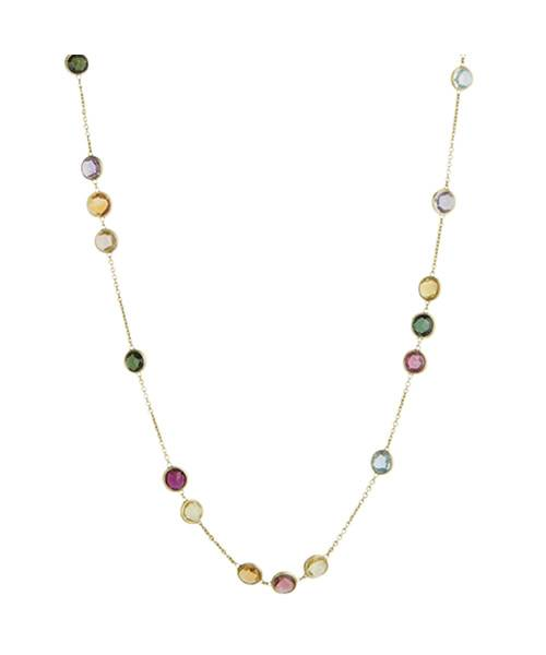 Marco Bicego Halskette Gold 18 Karat & Edelsteine Jaipur CB1309 MIX01 Collier | Uhren-Lounge