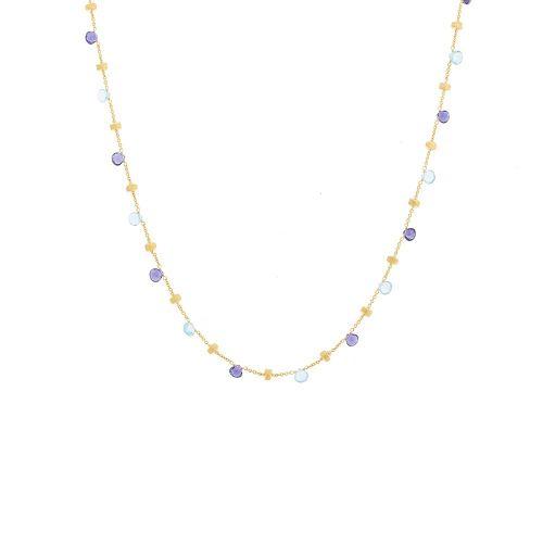 Marco Bicego Paradise Halskette mit Topas & Iolit Edelsteinen aus Gold CB765-MIX240-Y | Uhren-Lounge