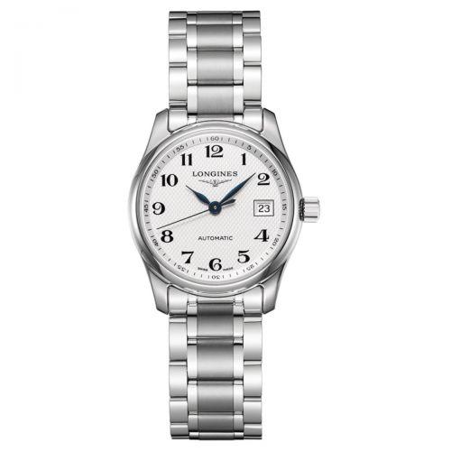 Longines Master Collection Damenuhr 29mm Silbern Edelstahl-Armband Automatik L2.257.4.78.6