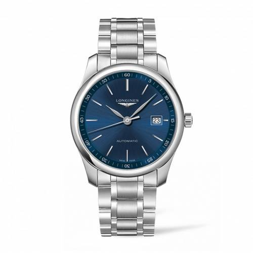 The Longines Master Collection Automatikuhr 40mm mit blauem Zifferblatt L2.793.4.92.6