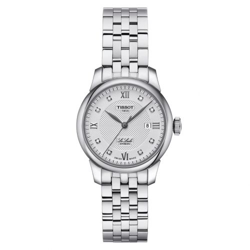 Tissot Le Locle Automatic Lady Damenuhr mit Diamanten silbern 29mm T006.207.11.036.00 | Uhren-Lounge