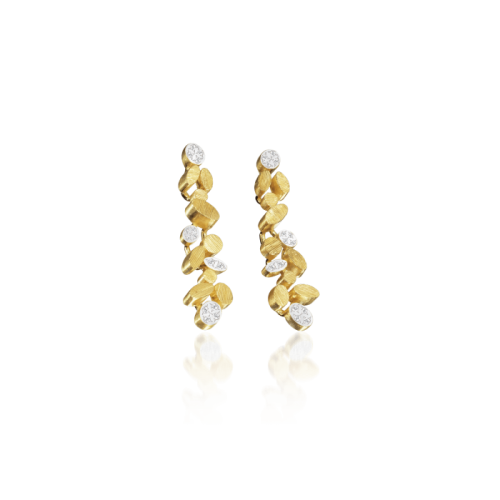 Luisa Rosas BE Ohrringe Ohrhänger M Gold mit Diamanten LRBE019