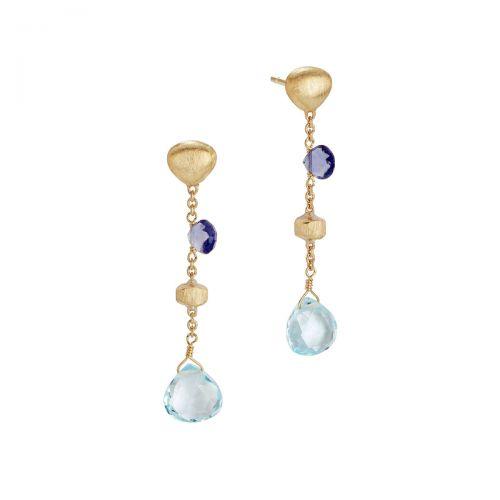 Marco Bicego Ohrringe Paradise mit blauen Topas & Iolit Edelsteinen Gold OB1554 MIX240 Y 02
