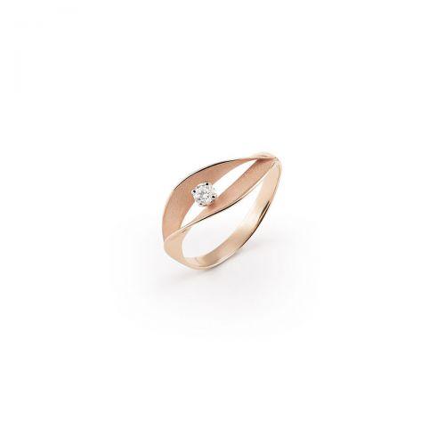 Annamaria Cammilli Ring Dune Assolo Rosegold mit Diamanten Essential GAN3236P